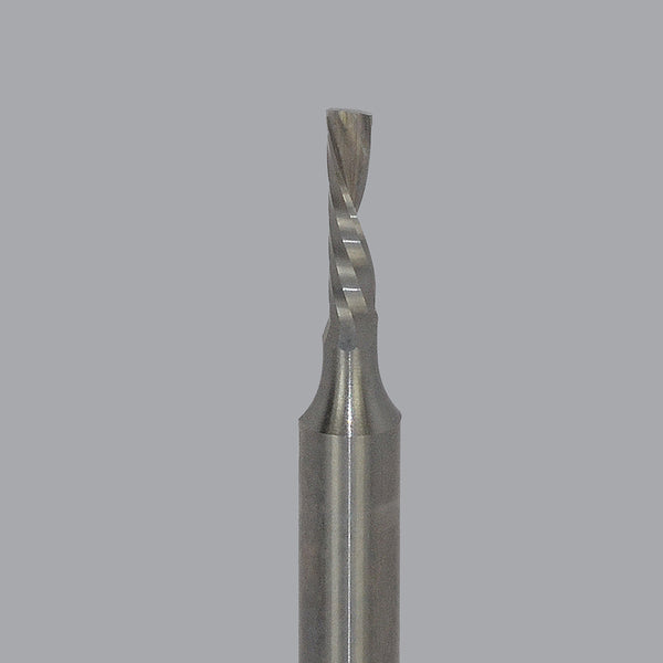 Onsrud 62-700 and 62-750 Series: Solid Carbide Downcut Spiral O Flute Router Bit, HARD PLASTIC