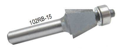 Dimar 102RBX-X Series Bevel Trim Bits with Ball Bearing Guide, 2 Flutes
