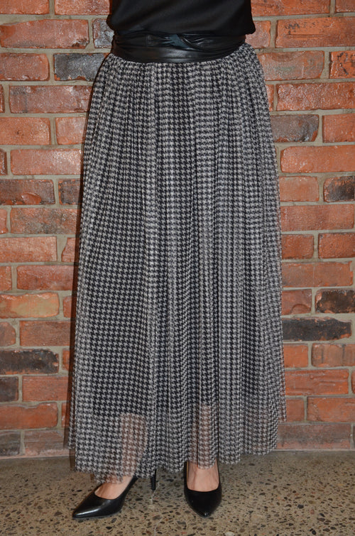 Double Layered Skirt Made in Italy