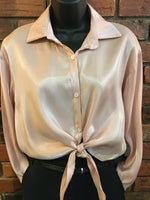 Long Sleeve Collar Blouse Made in Italy