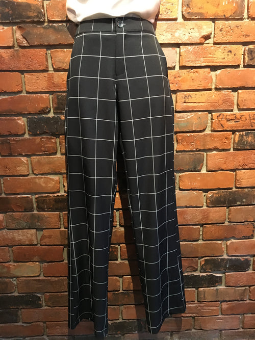Plaid Dress Pants Made in Italy