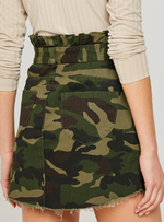 Camouflage Cotton Skirt