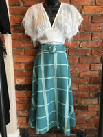 Long Skirt Matching Belt Made in Italy