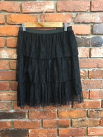 Layered Elastic Hip Miniskirt Made in Italy