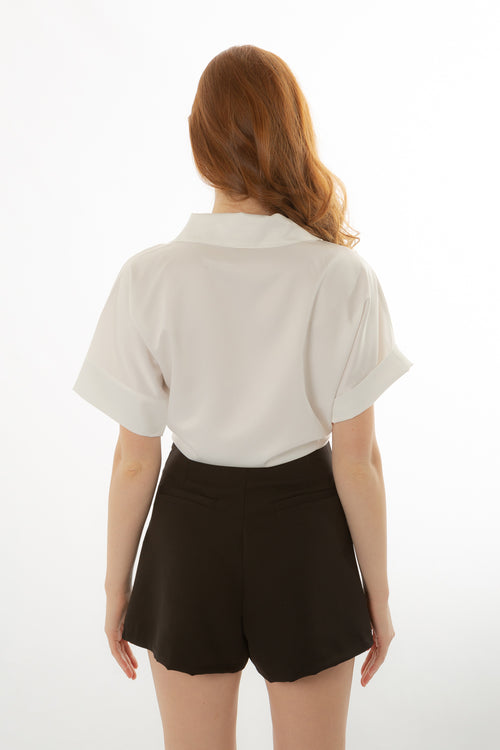 White Blouse With Collar Made in Italy