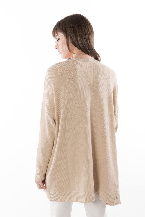 Beige Cardigan Made in Italy