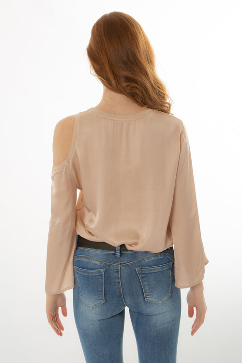 One Shoulder Cut Blouse Made in Italy