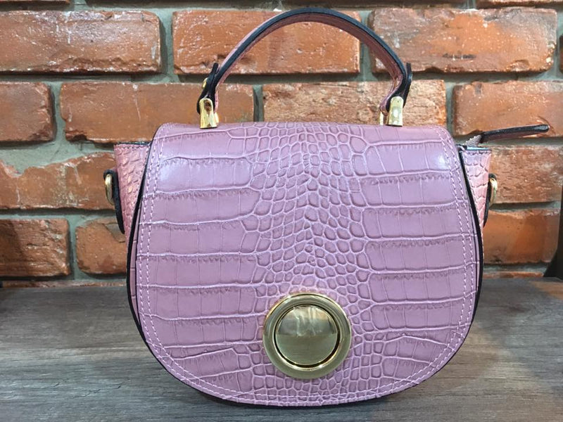 Semi Round Leather Purse Made in Italy