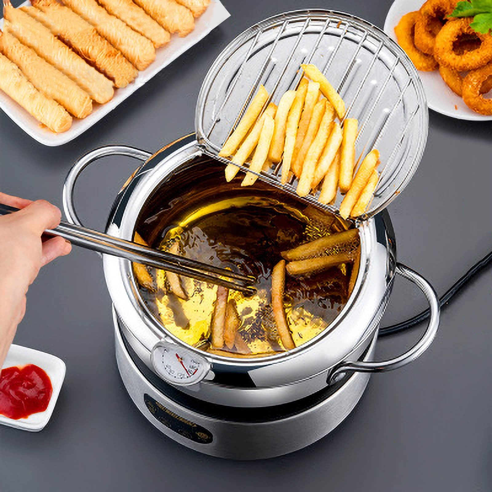 Deep fryer oil strainer pot™