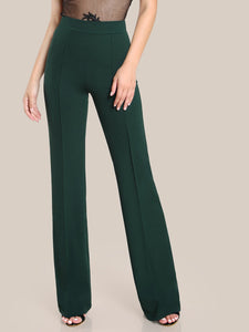 High Wait Piped Dress Pants