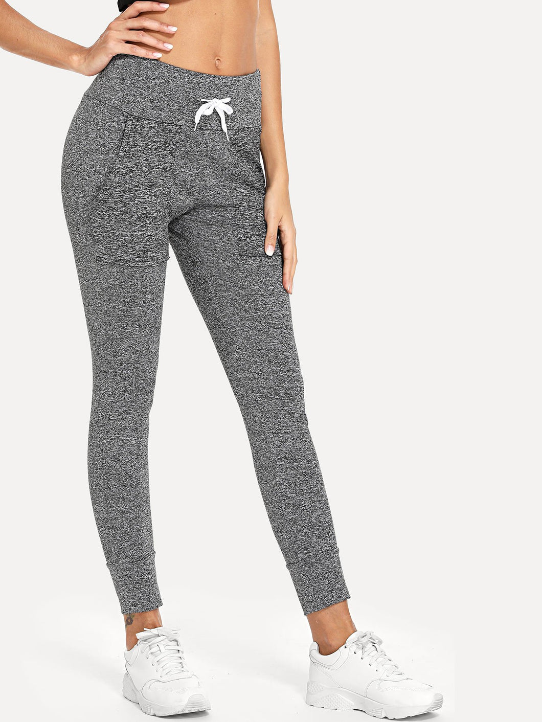 Marled Drawstring Pants