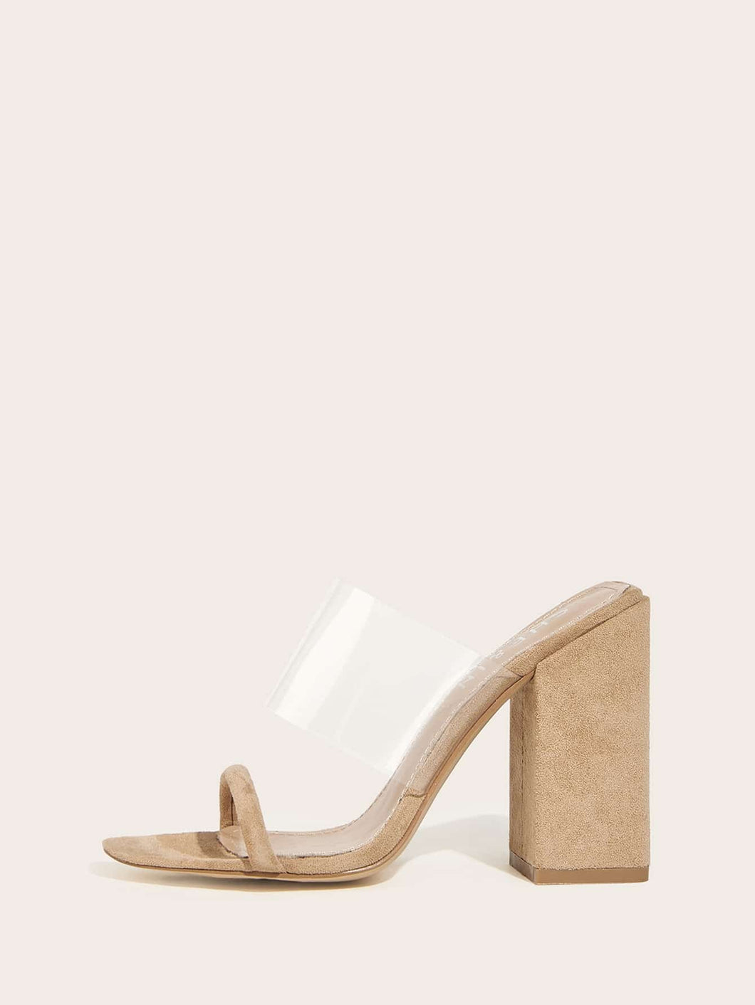 Double Strap Heeled Mules
