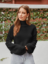 Load image into Gallery viewer, Rib Knit Drop Shoulder Sweater