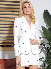 Load image into Gallery viewer, LOVE&LEMONADE Beaded Shawl Collar Blazer & Bodycon Skirt Set