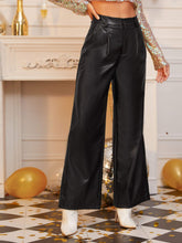 Load image into Gallery viewer, PU Palazzo Pants
