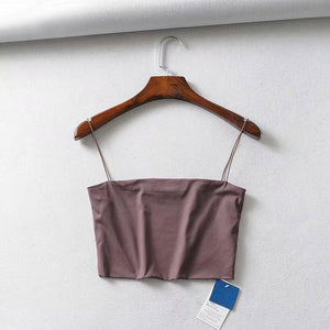 Cropped Basic Cami Top