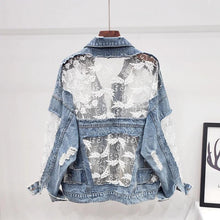 Load image into Gallery viewer, Beatrice Lace Denim Jacket