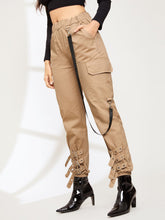 Load image into Gallery viewer, Pocket Detail Elastic Waist Pants