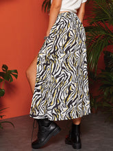Load image into Gallery viewer, Split Thigh Zebra Print Skirt