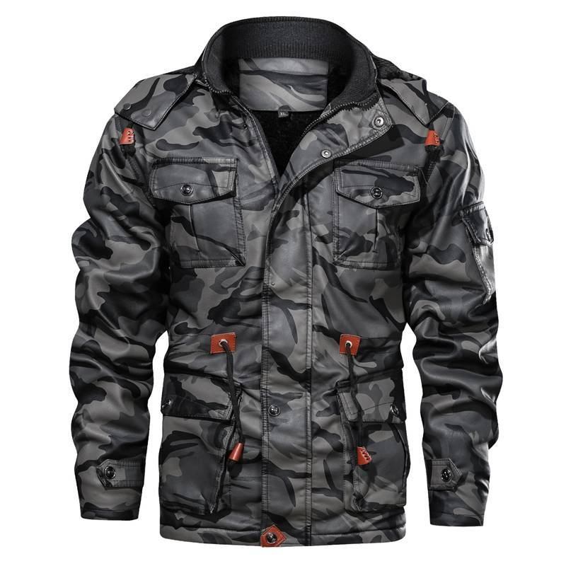 Pierre Camo Leather Jacket