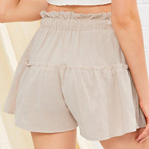 Linen Belted Shorts