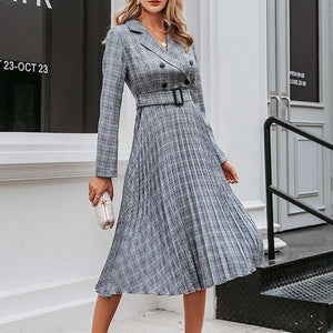 Courtney Vintage Plaid Dress