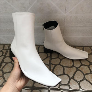 Square Toe Short Booties