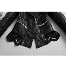Load image into Gallery viewer, Osanna Laced Leather Jacket