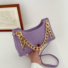 Load image into Gallery viewer, Crocodile and Chain Mini Shoulder Bag