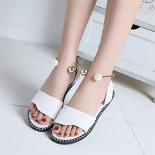 Load image into Gallery viewer, Julione Pearl Slip-On Sandals