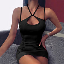 Load image into Gallery viewer, Cut Out Halter Mini Dress
