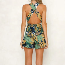 Load image into Gallery viewer, Tropical Print Halter Romper