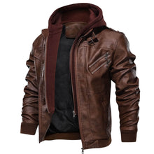 Load image into Gallery viewer, Kane Hooded Leather Jacket