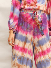 Load image into Gallery viewer, Drawstring Waist Tie Dye Wide Leg Pants