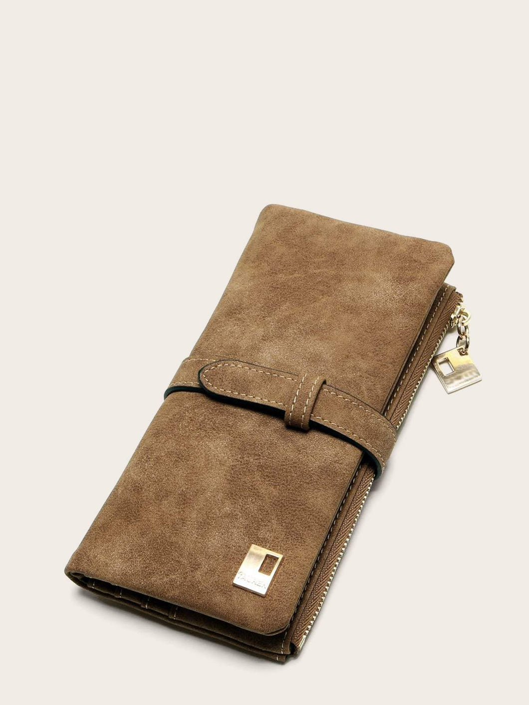 Fold Over Suede Wallet