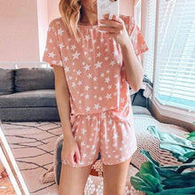 Load image into Gallery viewer, Print Tee and Shorts PJ Set