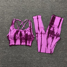 Load image into Gallery viewer, Tie Dye Yoga Set