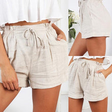 Load image into Gallery viewer, Linen Belted Shorts