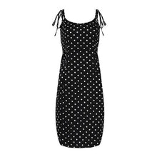 Load image into Gallery viewer, Polka Dot Spaghetti Strap Midi Dress
