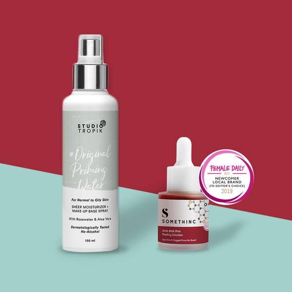 Feel Good Ritual-1 : Studio Tropik Priming Water + Somethinc AHA BHA PHA
