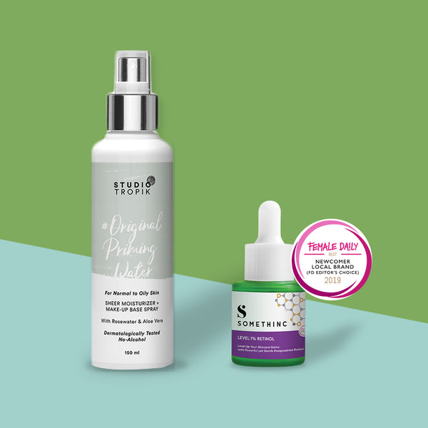 Feel Good Ritual-2 : Studio Tropik Priming Water + Somethinc Level 1% Retinol
