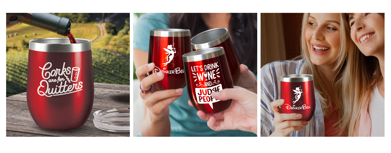 Insulated Red Tumblers
