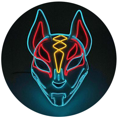 Masque Renard Led Kitsune