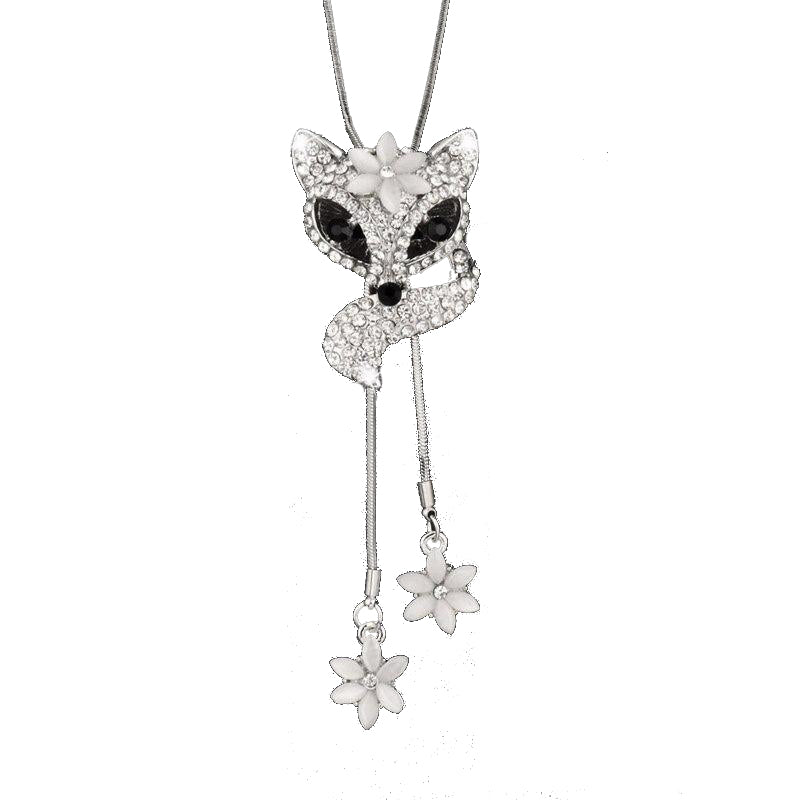collier renard diamant