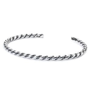 Trollbeads Twisted Silver Bangle