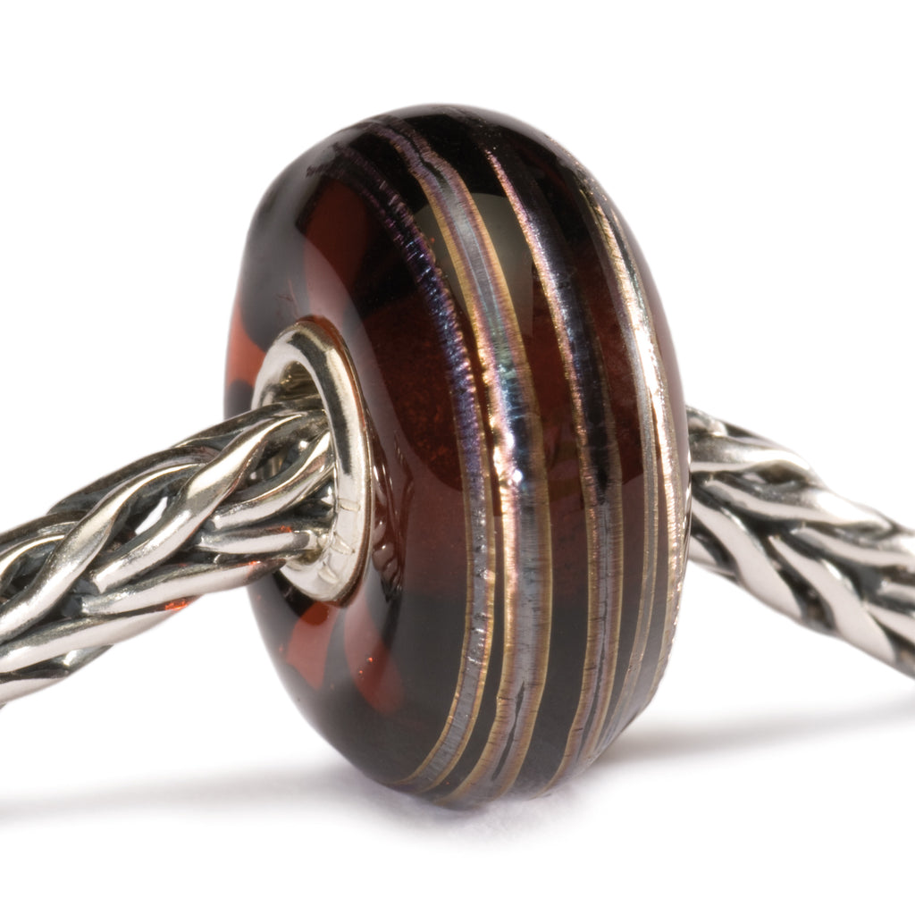 Trollbeads Golden Thread, Brown