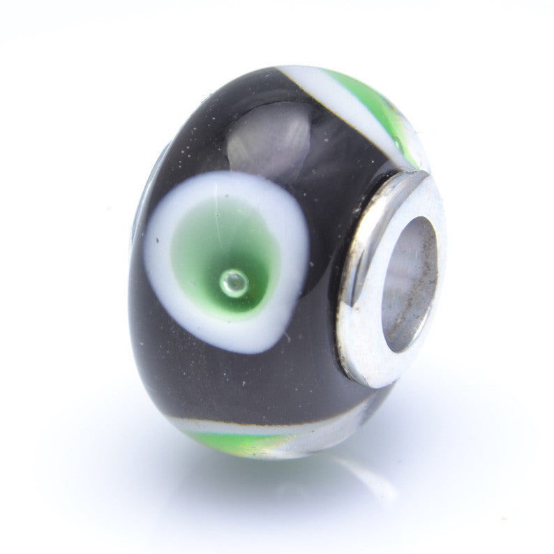 Charmlinks Glass Bead Blackcap - Exclusive Bead Store