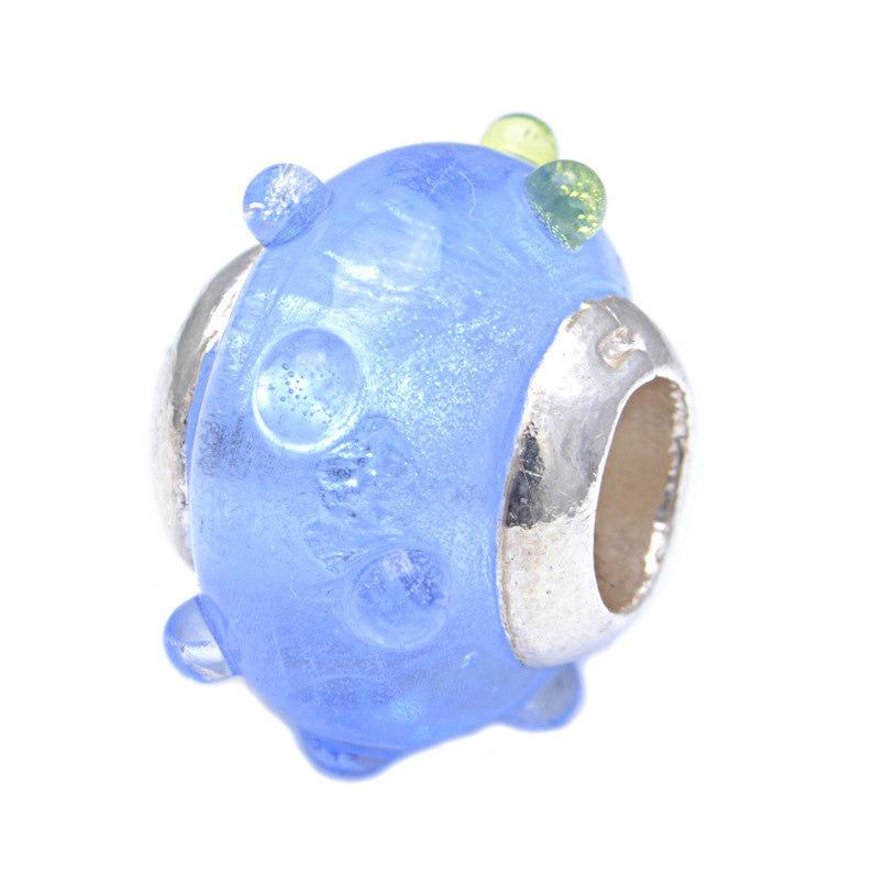 Charmlinks Glass Bead Blue Throat - Exclusive Bead Store