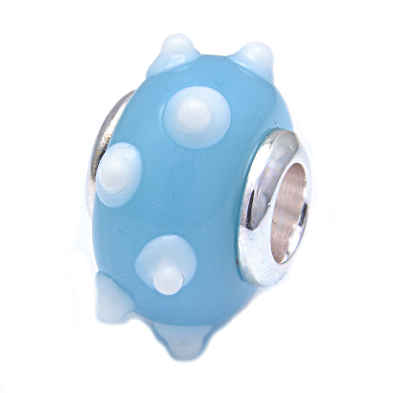 Charmlinks Glass Bead Blue Tit - Exclusive Bead Store