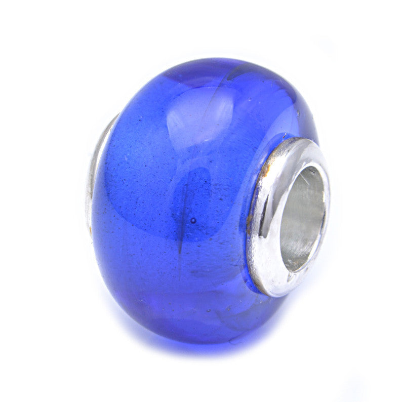 Charmlinks Glass Bead Bristol Blue - Exclusive Bead Store
